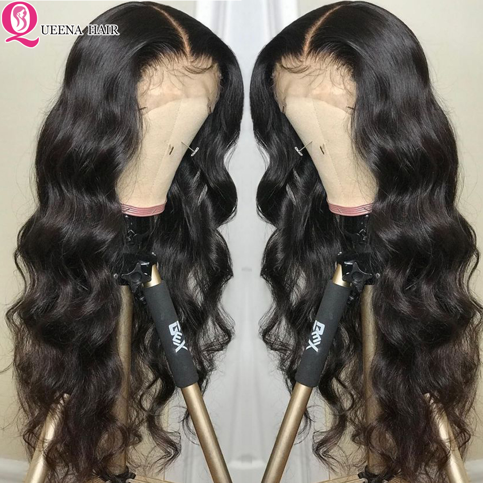 13x4 Lace Front Human Hair Wigs For Black Women Malaysian Hair Body Wave Transparent Lace Wig Pre Plucked With Baby Hair Remy