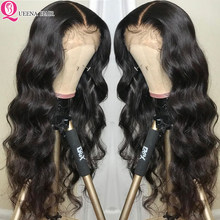 13x4 Lace Front Human Hair Wigs For Black Women Malaysian Hair Body Wave Transparent Lace Wig Pre Plucked With Baby Hair Remy(China)