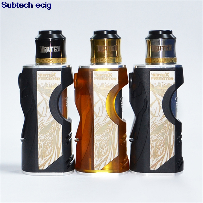 Mechanical Mod Vertex Box Mod Kit With Vertex 24mm RDA POM PEI Aluminum Material For Single 18650 20700 Battery Vape Mods