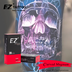 Image 5 - EZ Revolution Tattoo Cartridge #12 (0.35 mm) Curved Magnum Needle for Rotary Tattoo Machine Grips Suppies 20 PCS/Box