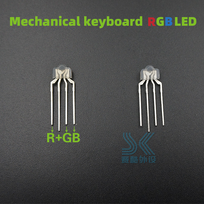 10pcs/pack Mechanical Keyboard RGB LED 4pin Lamp Light For Kailh OTM Gateron Greetech Switch Keycool Full-color