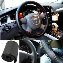 Steering-Wheel-Covers Interior-Accessories Car Soft Fashion DIY PU with Needles And Thread