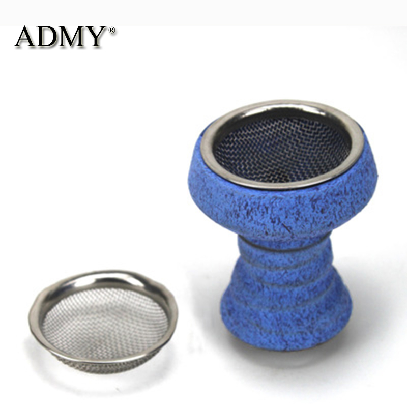 ADMY Stainless Steel Hookah Tobacco Wire Mesh Shisha Chicha Accessories Narguile Filter Bowl-shaped