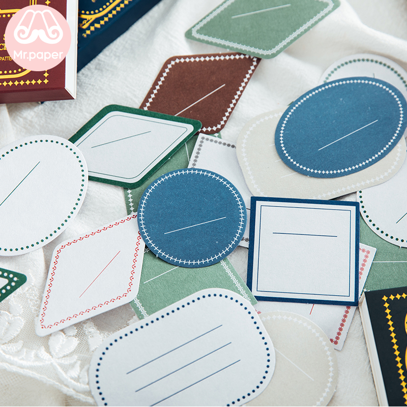 Mr.paper 60Pcs/box Ins Minimalist Vintage Deco Diary Stickers Scrapbooking Bullet Journal Suits For Writing Stationery Stickers