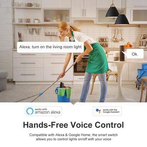 Image 2 - 4pcs Tuya Wifi DIY חכם אלחוטי מרחוק מתג Domotica אור בקר מודול עבודה עם Alexa Google בית חכם חיים
