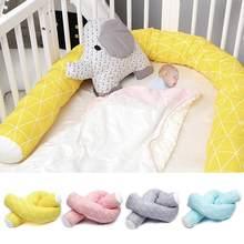 Parachoques para cama de bebé recién nacido, tela de algodón puro suave, almohada larga segura, valla de parachoques para cuna, Protector de cuna de bebé, 2M de longitud, nuevo