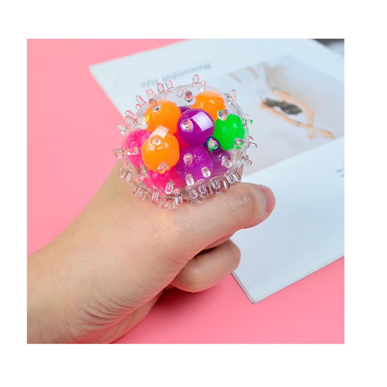 Toy Pressure-Toy Stress Adults for Kids Funny 10PCS Rainbow-Ball Spongy Squeezable Colorful img3