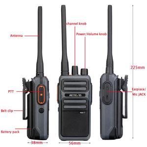 Image 2 - RETEVIS RB17/RB617 Walkie Talkie 2pcs  Portable Two  Way Radio UHF Radio Station PMR446 FRS Walkie talkie VOX  Type C Charging