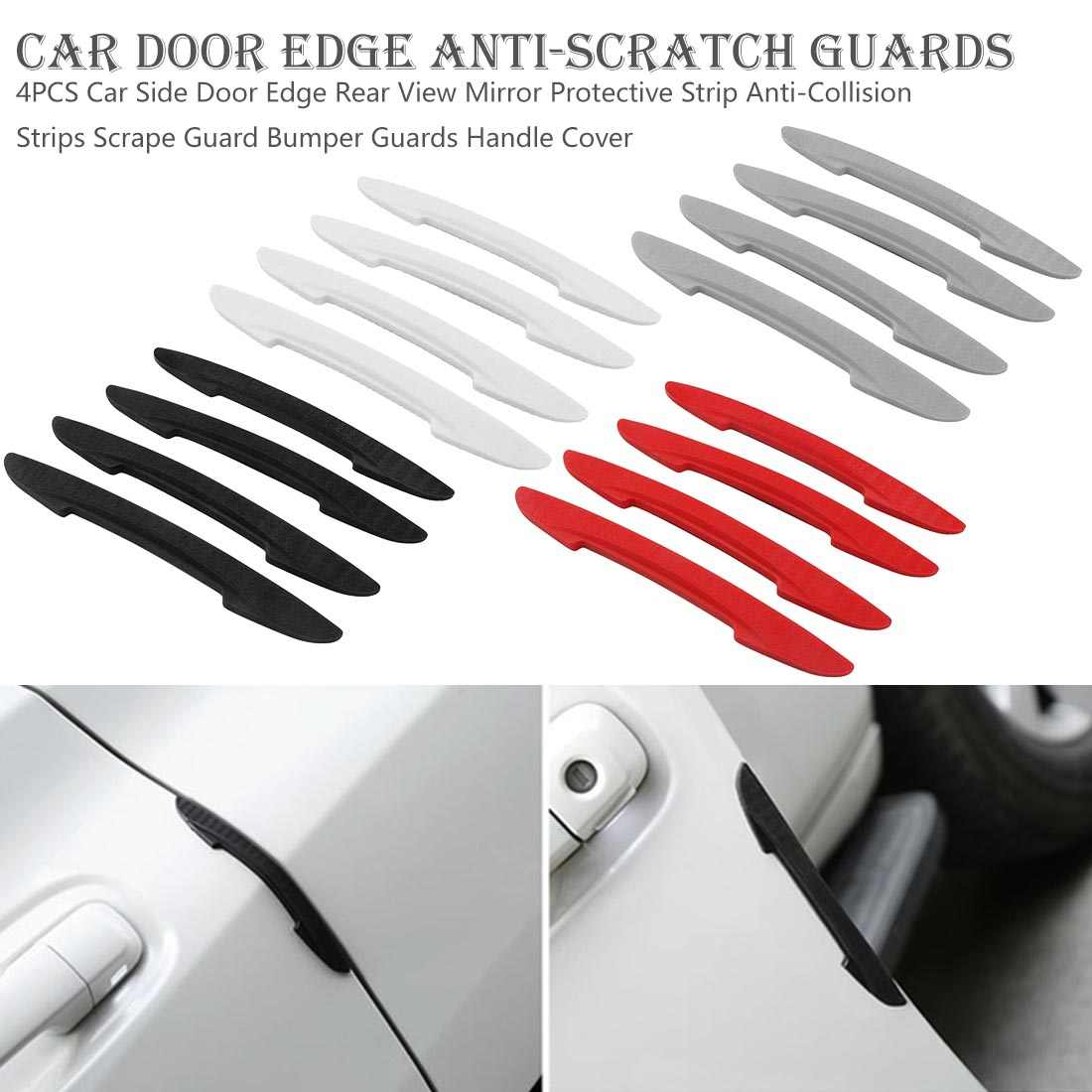 XIAOFANG 4pcs//pack Auto Bumper Anti Collision Scratches Protection Styling Strip Car Door Protector Mouldings Reflector Edge Guard Crash Color : Blue