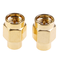 2 pçs 2 w 6 ghz 50 ohm sma masculino rf terminação coaxial manequim carga banhado a ouro acessórios de conectores de tampão|Conectores| |  -
