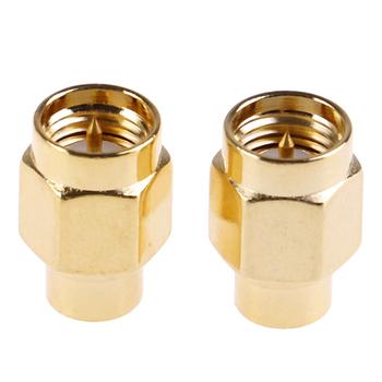 2 sztuk 2W 6GHz 50 ohm SMA mężczyzna RF koncentryczne zakończenie manekin obciążenia pozłacane Cap złącza akcesoria tanie i dobre opinie HUXUAN