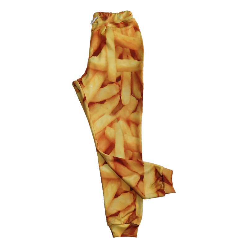 OGKB Jogger Pants Men Fashion Loose Food 3D Sweat Pants Print French Fries Chips Streetwear Plus Size 5XL Costume Man Sweatpants in Sweatpants from Men 39 s Clothing