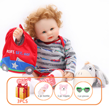 50cm Toy Baby Doll Silicone Reborn Baby Doll Handmade Toddlers Toy Soft Silicone Simulation Newborn Doll Birthday Gift For kids t125 13a 110 250v nc terminal controller new kettle thermostat unused spare parts for electric kettle ek1709