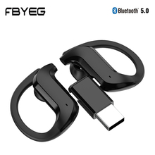 FBYEG NEW TWS Bluetooth Headphone Bluetooth V5.0 Touch Hands-free Headset Earhook Stereo Wireless Ea