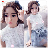 LOMMNY Real Silicone Sex Dolls 100cm Skeleton Adult Japanese Love Doll Vagina Lifelike Pussy Realistic Sexy Doll for Men