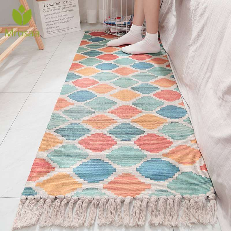Bedroom Carpets Soft Cotton Delicate For Living Room Kid Room Table Rugs Home Carpet Floor Door Mat Decorate House Area Rug Mats