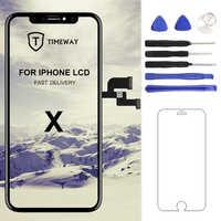 Para iphone X XS Max XR pantalla LCD para Tianma AMOLED OEM digitalizador con montaje de pantalla táctil para iphone X pantalla LCD