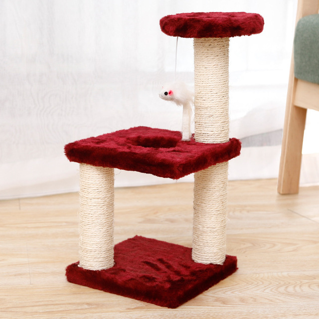 Small Cat Tree House Cat Cat Scratchers Climbing Frame Climbing Frame With Hammock Table Pet Cat Toy Kitty Play House For Kitten 4