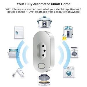 Image 2 - Enchufe inteligente WiFi, toma de corriente estándar de Brasil con monitoreo de energía, Compatible con asistente de Google Alexa