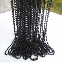 20pcs White K/Hematite plated spherical metal necklace Finding 19