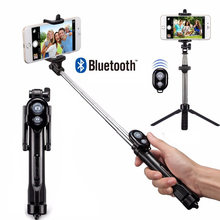 Forskrto 3 en 1 bluetooth inalámbrico autofoto palo Mini trípode Monopod extensible Universal para iPhone XS Max 8 7 6 xiaomi/Huawei(China)