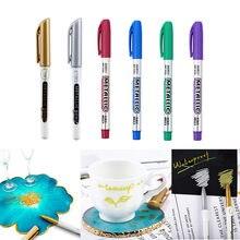 3/6 Stuks Goud Kleur Epoxyhars Tekening Pen Hoogtepunten Metallic Permanente Marker Leafing Punt Pen Marker Acryl Verf voor Diy