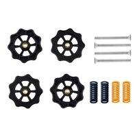 4 Uds actualizado mano grande giro de nivelación automática tuerca primavera Kit de tornillos M4 para CR10 CR10S Mini Ender3 3D impresora accesorios 85DC