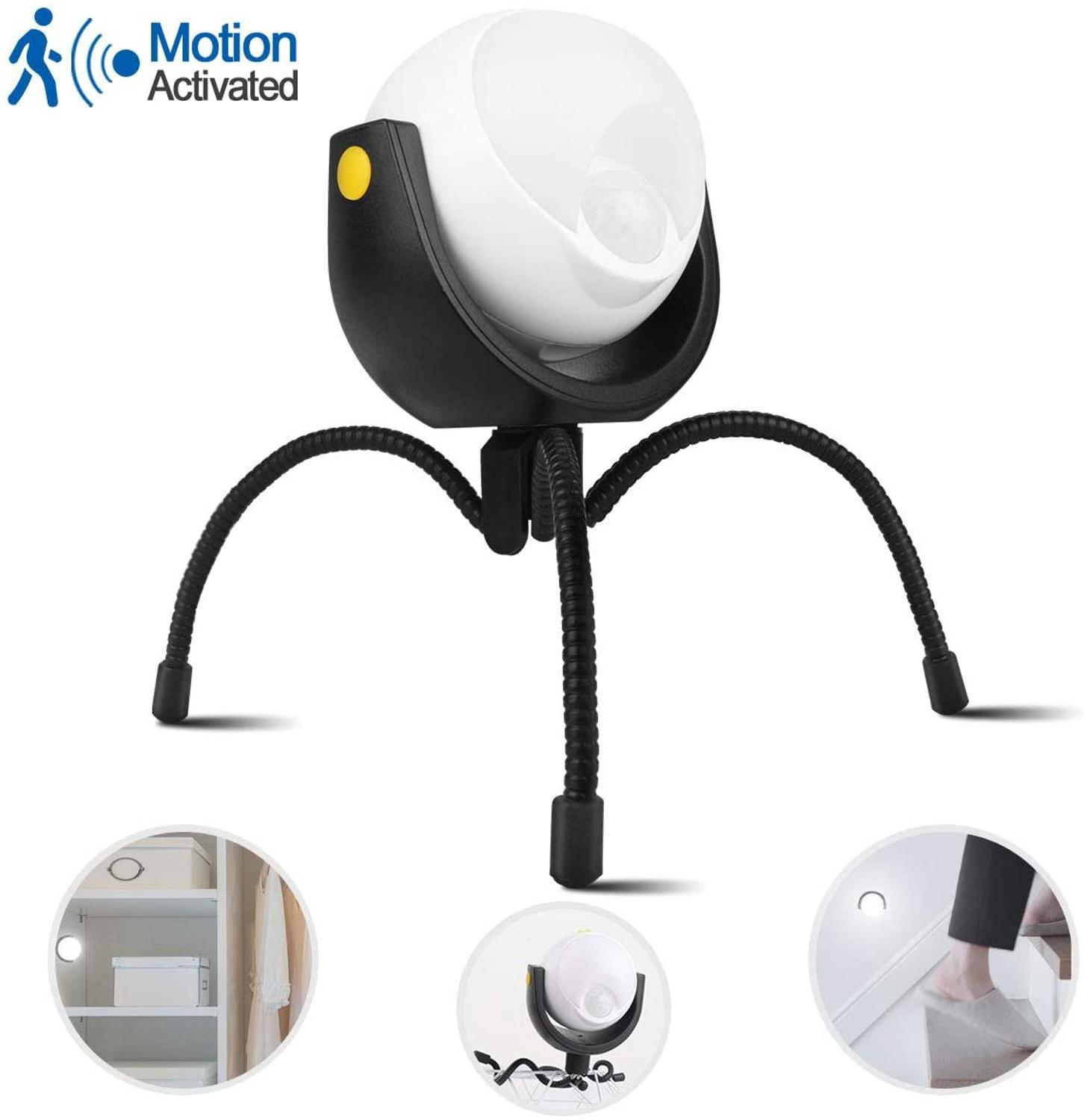 Led Outdoor Light 360 Degree Motion Sensor Bright Lights With Multi-function Tripod Flexible Claws