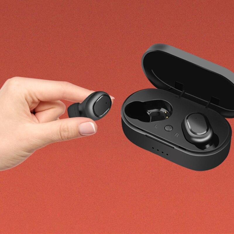 TWS M1 Draadloze Bluetooth 5.0 Oortelefoon Met Microfoon 350mAH Lading doos HIFI Stereo Headsets IP67 Waterdichte Sport Oordopjes noise canceling headphone draadloze oordopjes ecouteur bluetooth sans fil fone de ouvido