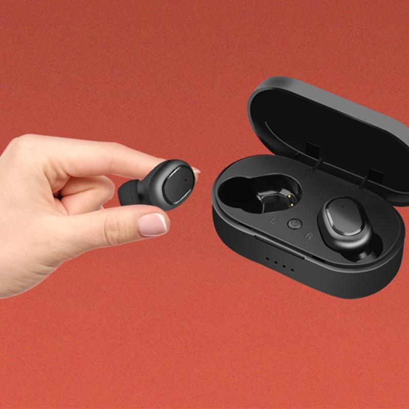 TWS M1 kablosuz bluetooth 5.0 mikrofonlu kulaklık 350mAH şarj kutusu HIFI stereo kulaklıklar mi aliexpress spor kulakiçi