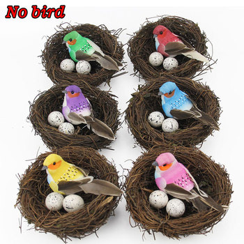 1PC New Fashion Cute Handmade Vine Brown Bird Nest House Nature Craft Holiday Home Decoration Gift image