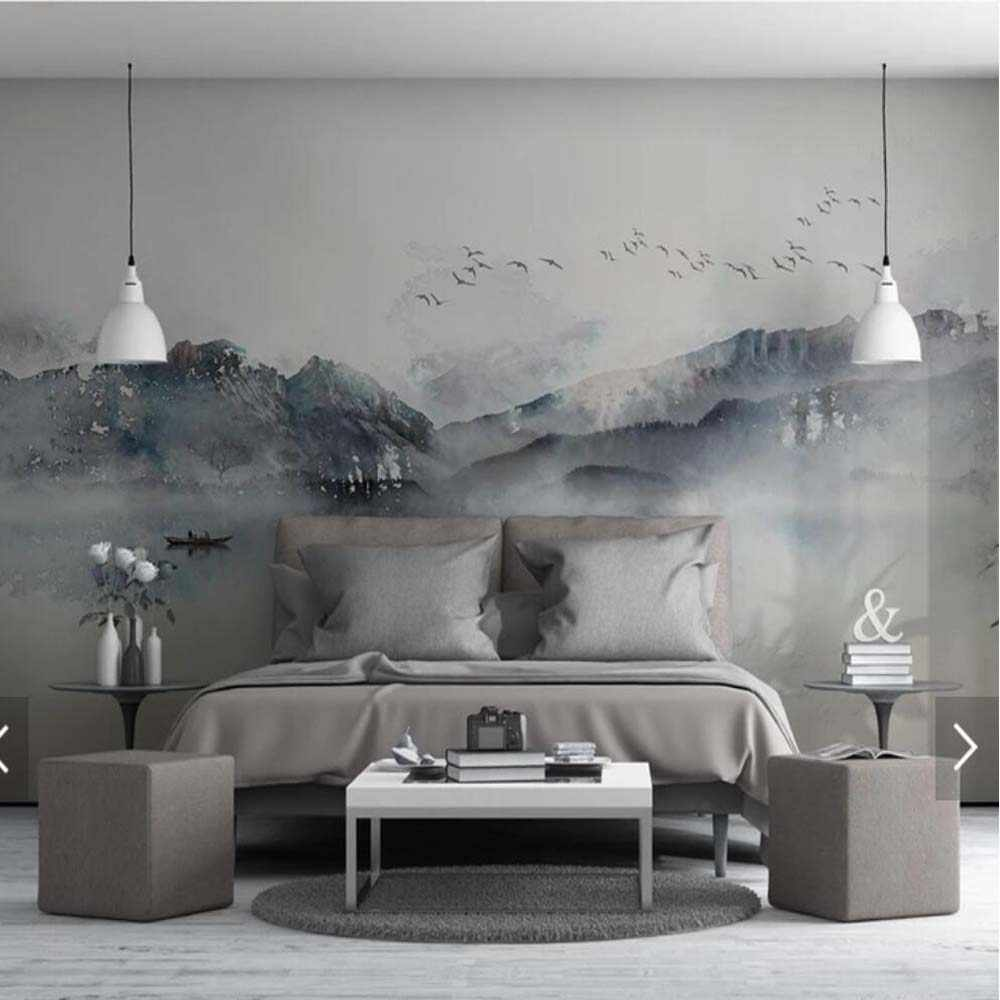 Chinese Style 3D Mountain Creative Abstract Printed Photo Wallpaper Mural for Living Room Wall Decor Murals Customize Wall Paper