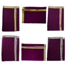 Nappe de Table d'autel, sac de cartes de Tarot, cérémonie, jeu de société d'astrologie, nappe de Divination Wicca, tapisserie en velours violet