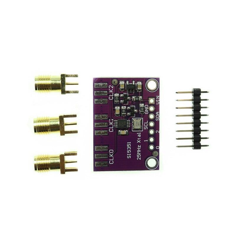 Настольная плата для генератора часов Si5351A Si5351 I2C, 3-5 в постоянного тока, модуль для выключения, генератор сигналов, часы 8 кГц-160 МГц