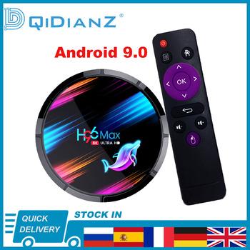 H96 MAX X3 Android 9 0 TV pudełko 4K 1080P H96MAX X3 czterordzeniowy procesor Amlogic S905X3 2 4 5G WIFI 8K BT TV TV pudełko tanie i dobre opinie DQiDianZ 1000 M CN (pochodzenie) Procesor Amlogic S905X3 Quad-core 64-bit 32 GB eMMC 64 GB eMMC 128 GB eMMC Brak Android TV