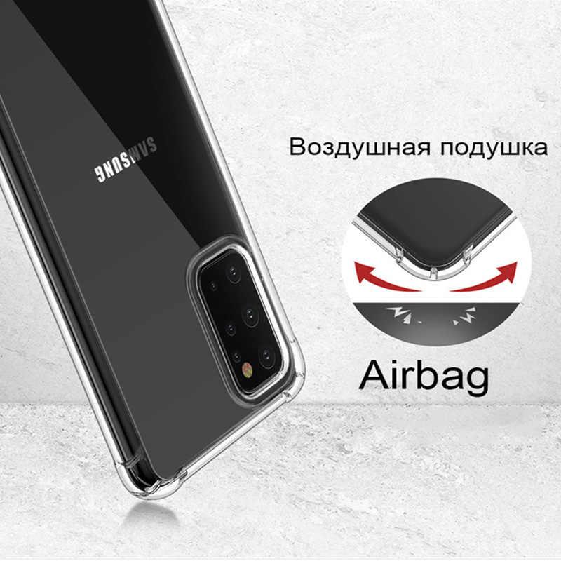 עמיד הלם סיליקון רך מקרה עבור סמסונג גלקסי S6 S7 קצה S8 S9 S10 S20 בתוספת אולטרה E הערה 5 8 9 10 פרו לייט נייד טלפון כיסוי