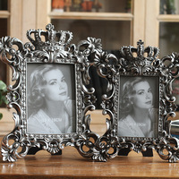 1PCS 7 inch 8 inch Vintage Photo Frame Elegant Old Home Display Frame Delicate Classical Imitation of The Old Picture Frames