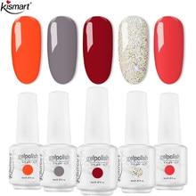 Kismart Gel Nail Polish Semi Permanent Primer Nail Art Hybrid Varnishes 8ml Gel polish Need Cured Base Top Coat Nails For Salon