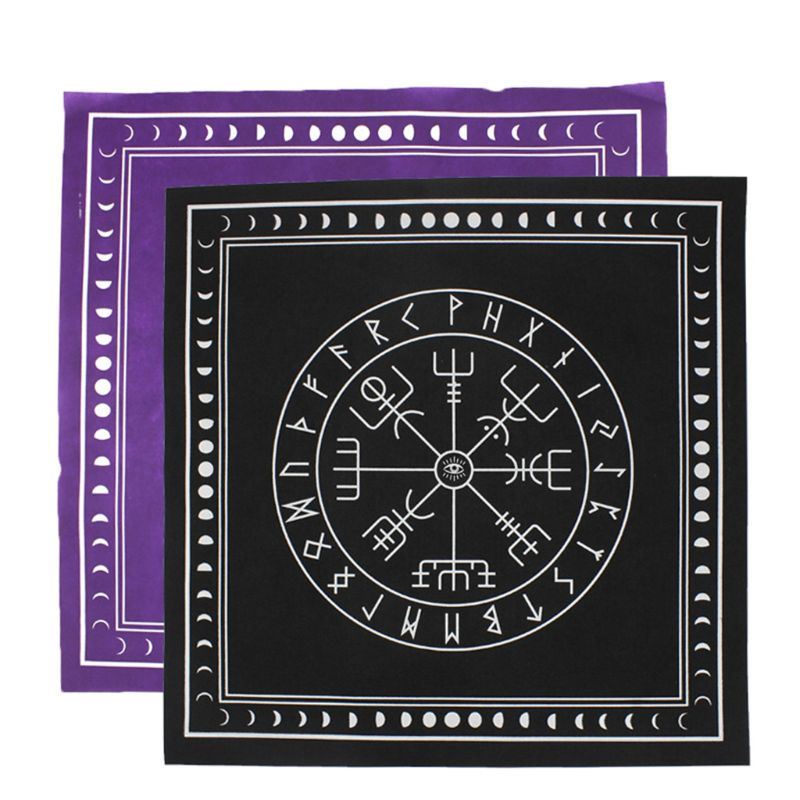 50*50cm Non-woven Tarot Tablecloth Rune Divination Altar Patch Tarot Table Cover Suit For Table Games