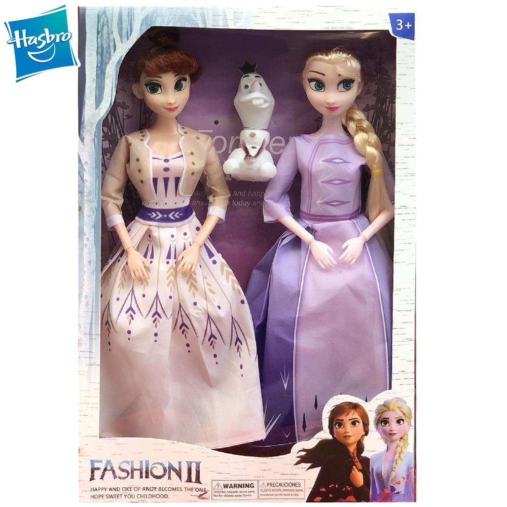 Hasbro Disney Frozen 2 Elsa Anna 9 joint Movable Figure Dolls for Girls Gift 30cm