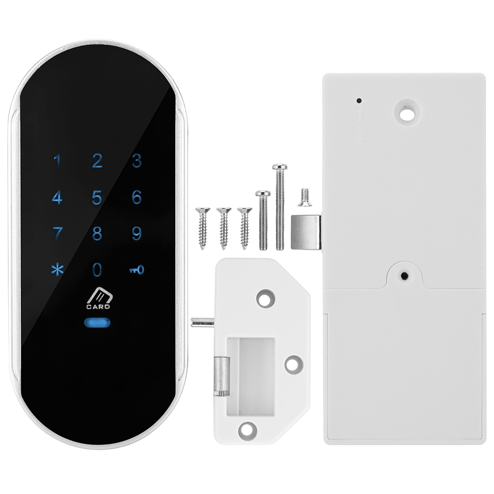 Smart Electronic Touch Keypad Password Lock Password Card Inductive Unlock For Sauna Cabinet Induction Cipher Locks