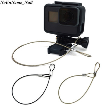 1pc Safety Steel Wire Safety Strap Stainless Steel Tether Lanyard Wrist Hand 30cm For GoPro Camera Hot 1