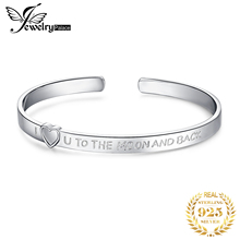 I Love You Moon Back Bracelet 925 Sterling Silver Cuff Bangles Bracelets For Women Jewelry Making Organizer