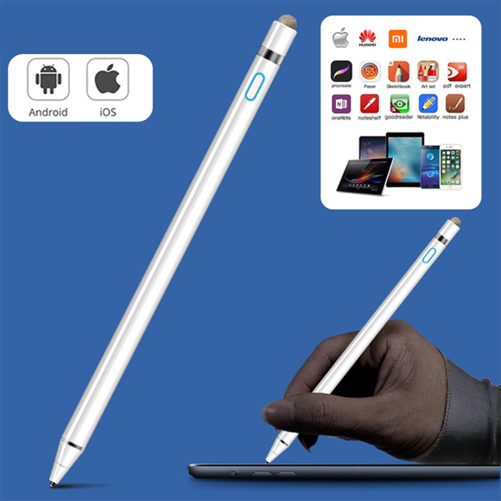 Universal Capacitive Stylus Pen with Eraser for IOS Android Windows Microsoft Systems 2 IN 1 Tablet Pens for Smart Phone Tablet