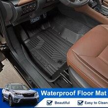 QHCP mata podłogowa dywan TPE gumowa stopa dywany dywany Boot klocki nie poślizgowe wodoodporna wyposażenie wnętrza dla Subaru Forester 2019