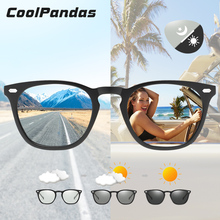 CoolPandas Photochromic Sunglasses Polarized Driving Eyewear Night-Vision Change-Color Glasses Women Men Square zonnebril heren