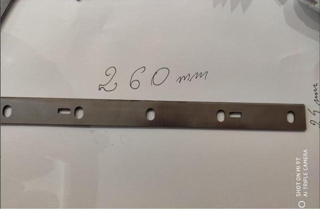 2 uds 260x24x2mm HSS cepilladora cuchillos cuchillas para Hais, Scheppach HMS 1070, Woodstar pt106 cepilladora de madera