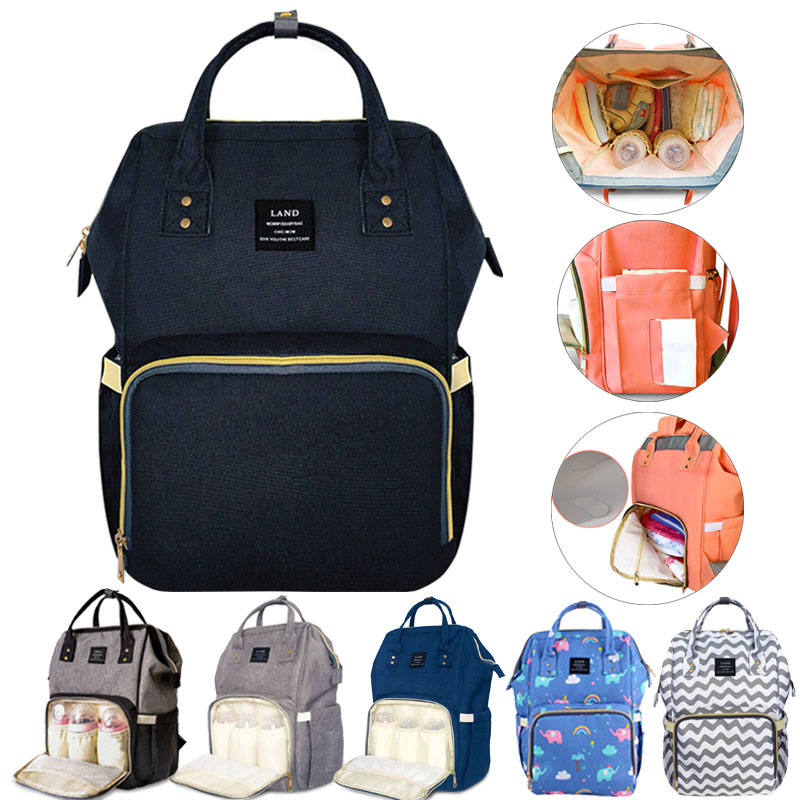 LAND Maternity Nappy Baby Diaper Bag  Mommy Bag Backpack