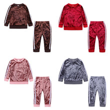 Toddler Tracksuit-Out Sport-Suits Pants T-Shirt Clothing-Sets Girls Kids Children 2pcs