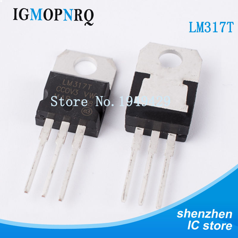 Free Shippin 10pcs/lot LM317 LM317T TO-220 Adjustable Chip Three-terminal Regulator Original Authentic